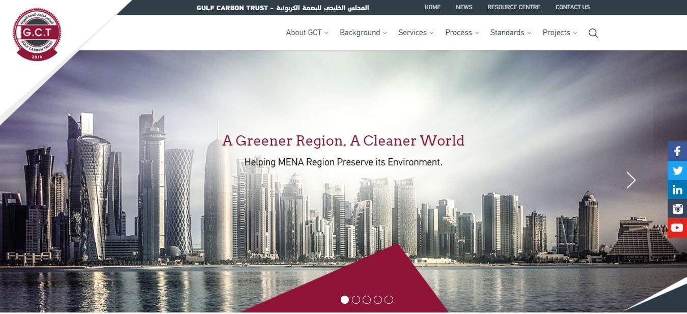 Gulf Carbon Trust Website by Nexa Digital, Dubai