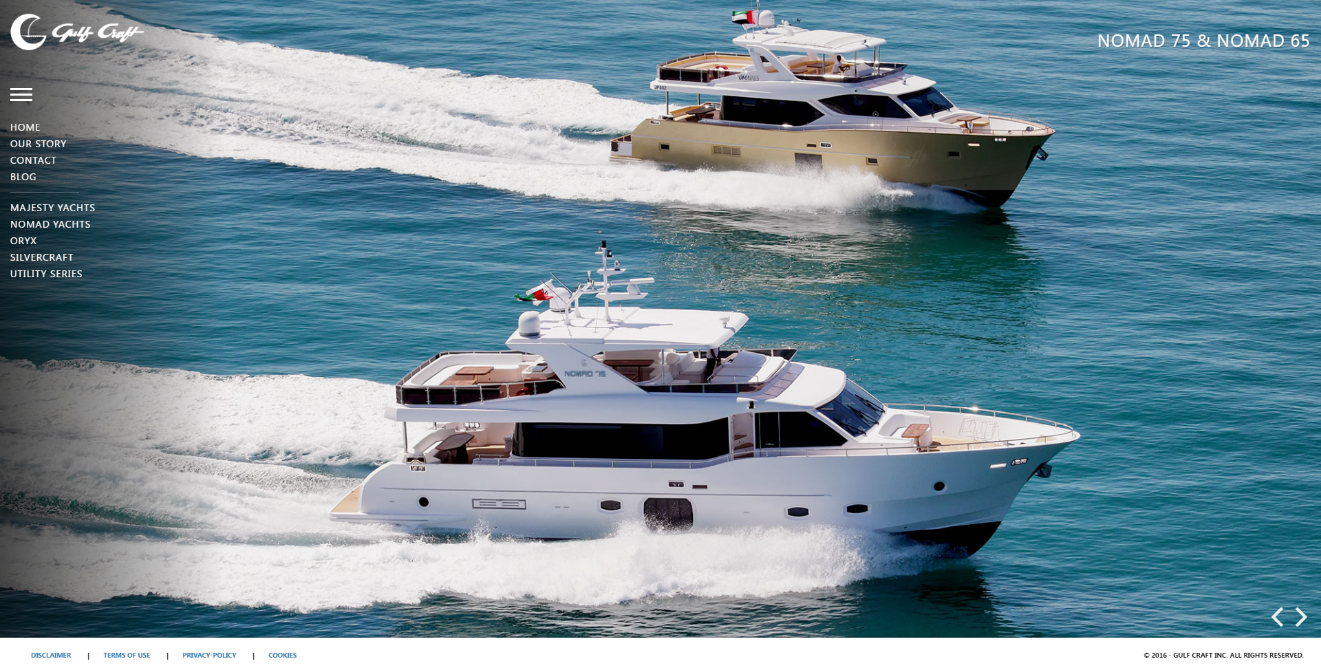 Gulf Craft Website by Digital Nexa