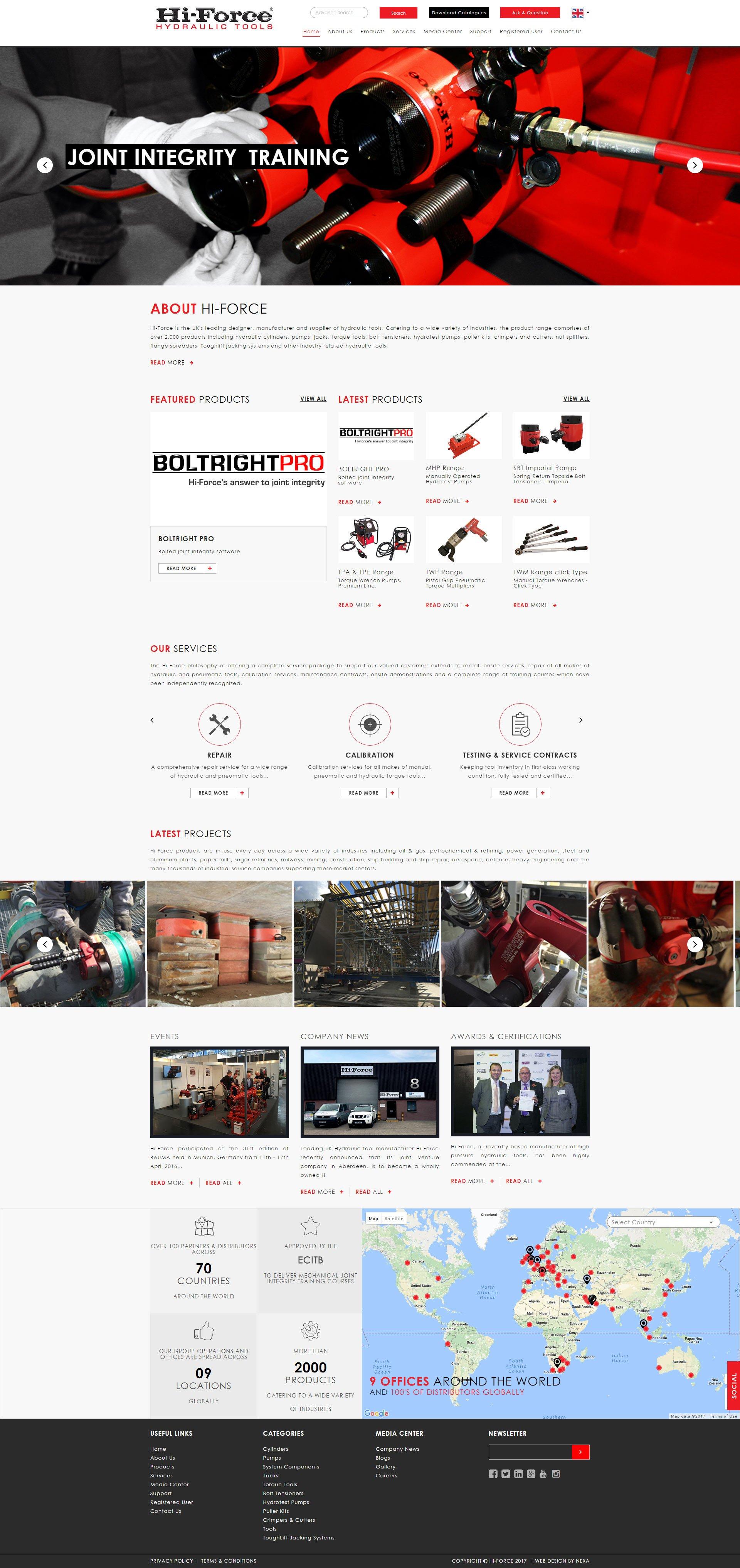Hi-Force Website by Nexa, Dubai