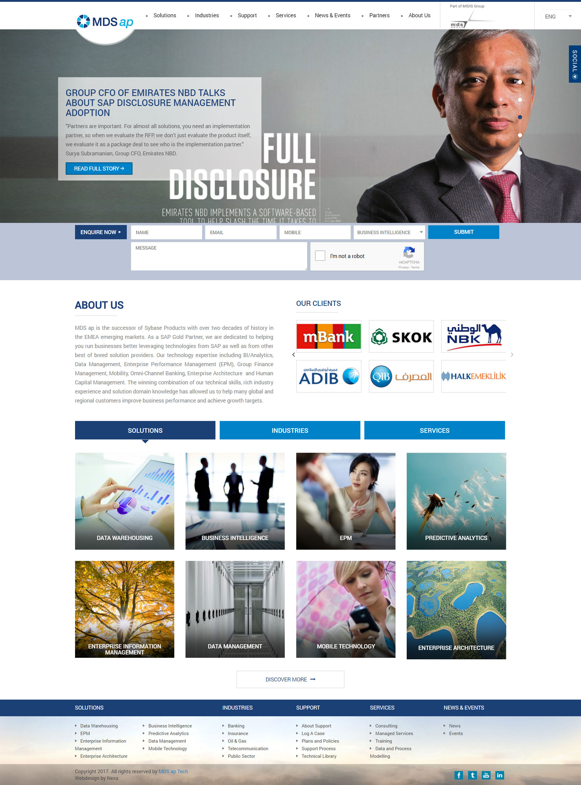 MDS ap Website by Nexa Digital, Dubai
