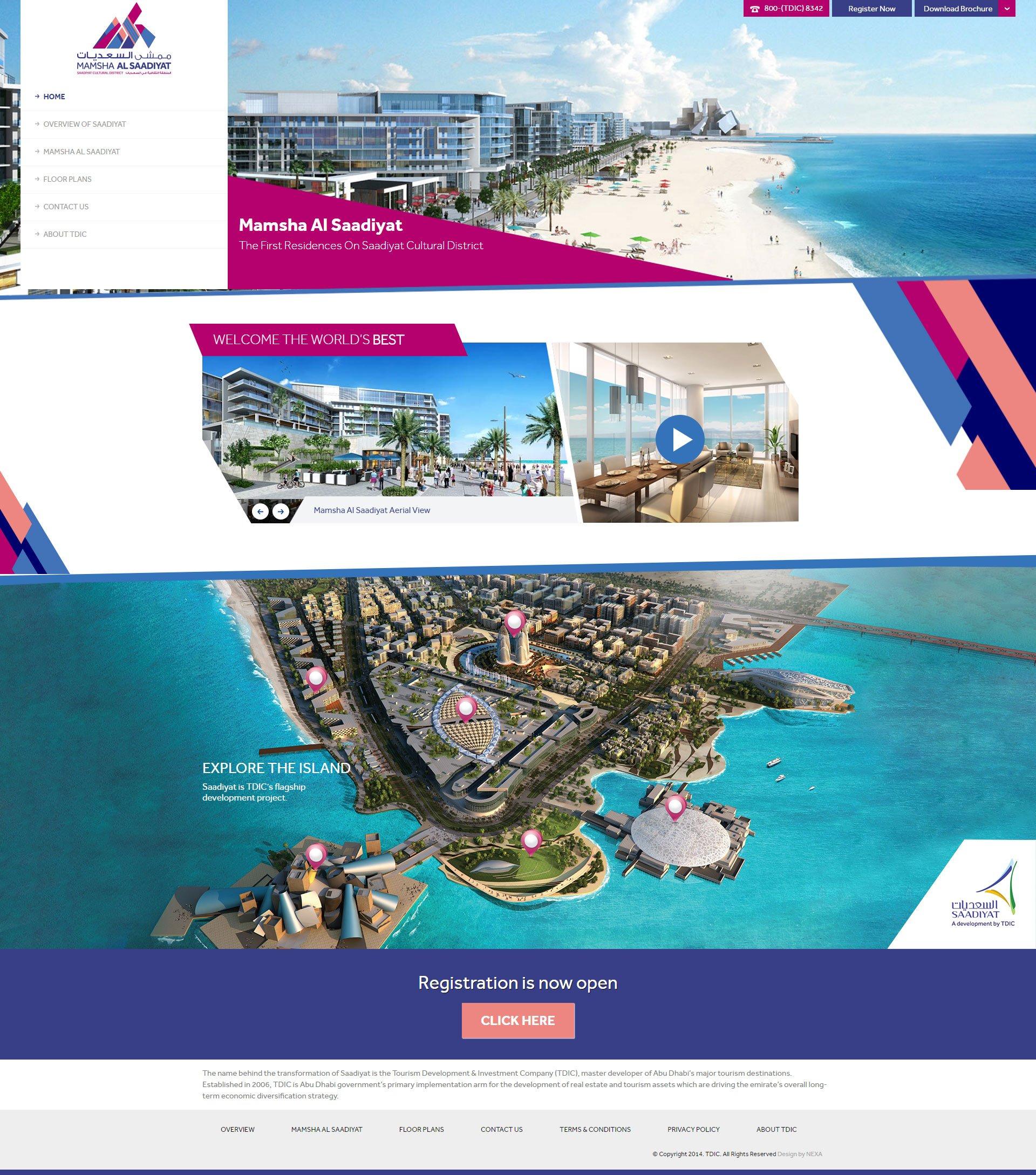 Mamsha Al Saadiyat Website by Nexa, Dubai.jpg