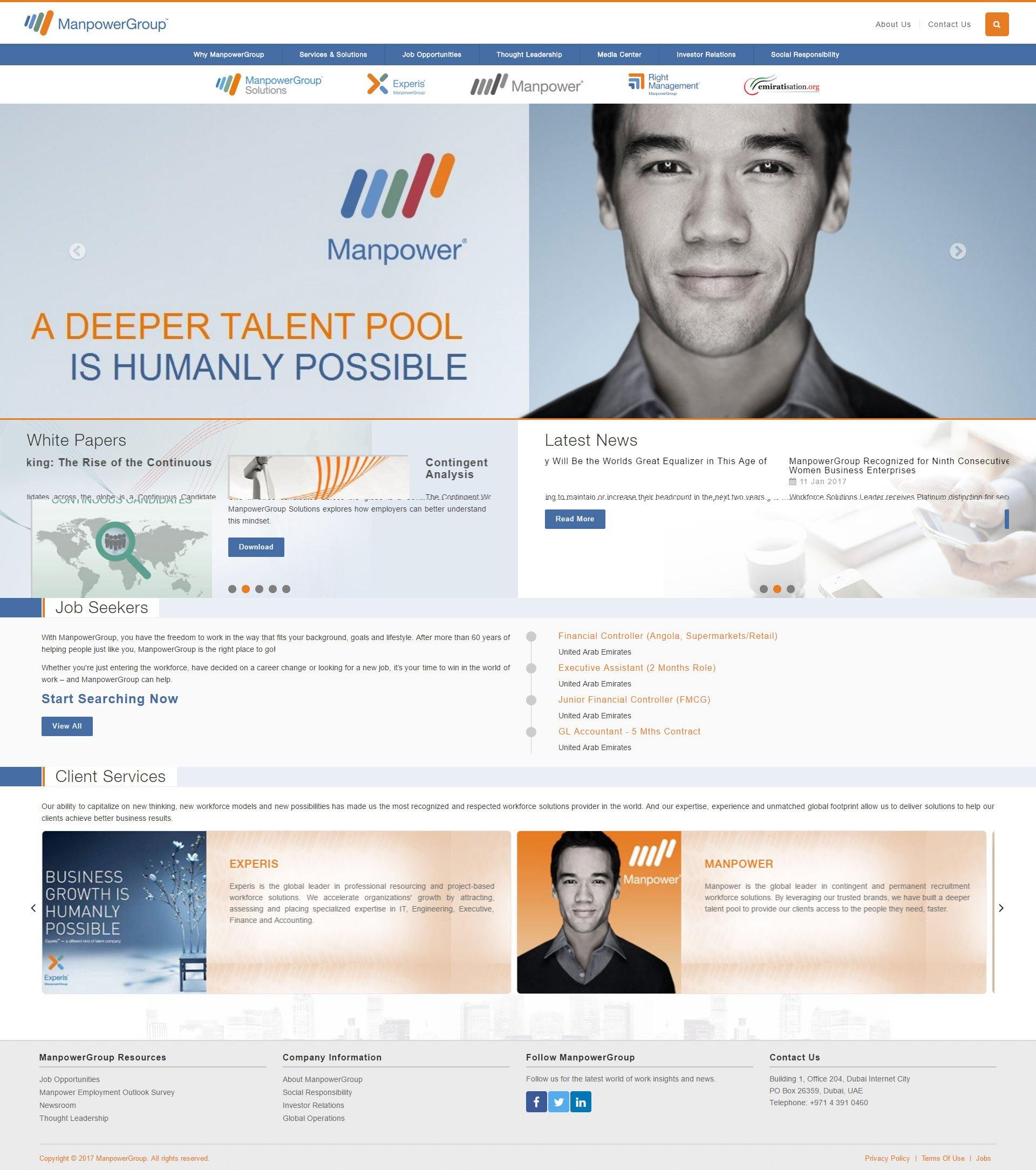 Manpower Group Website by Nexa