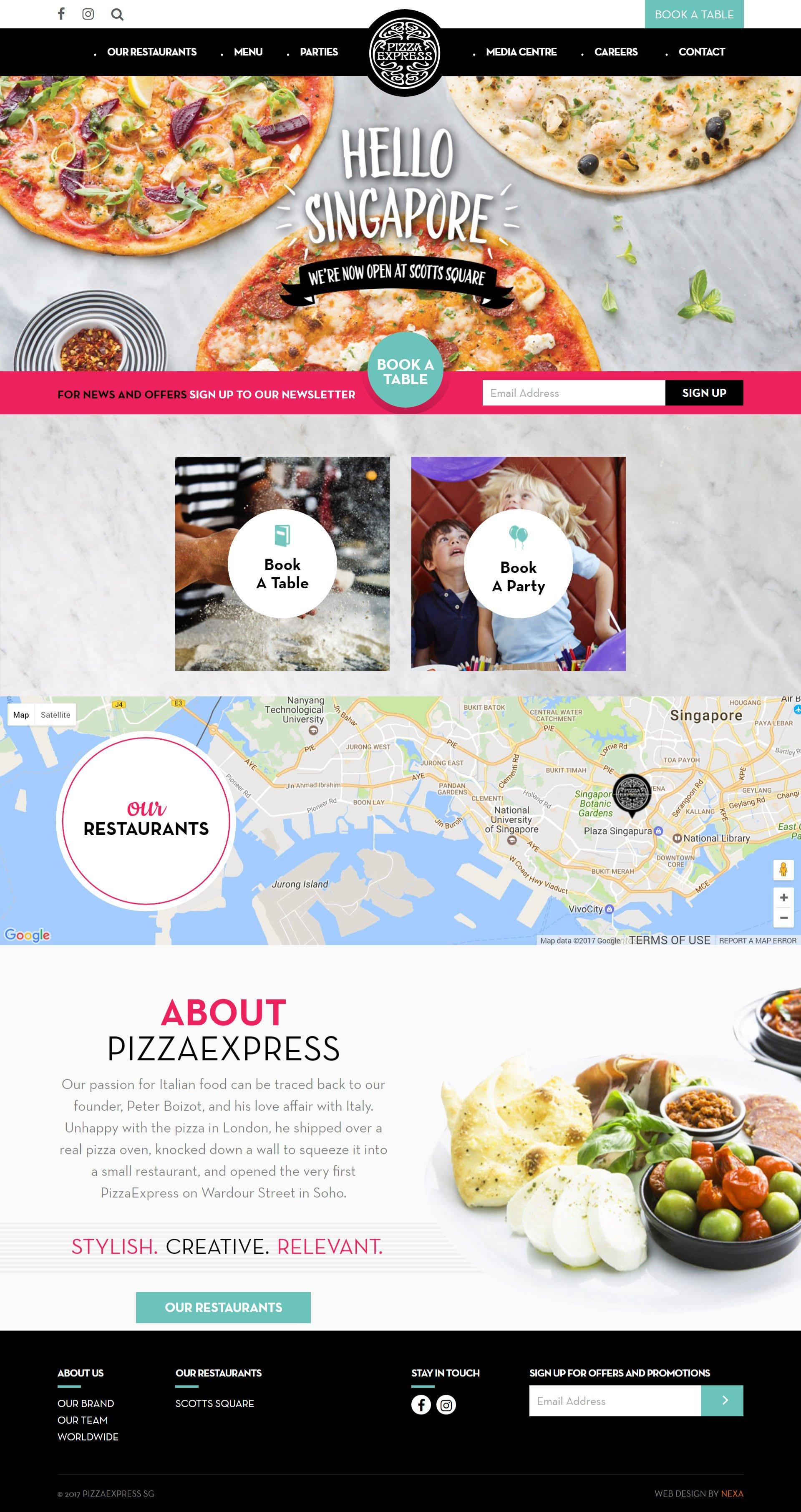 Nexa Portfolio - Pizza Express - Singapore by Nexa, Dubai