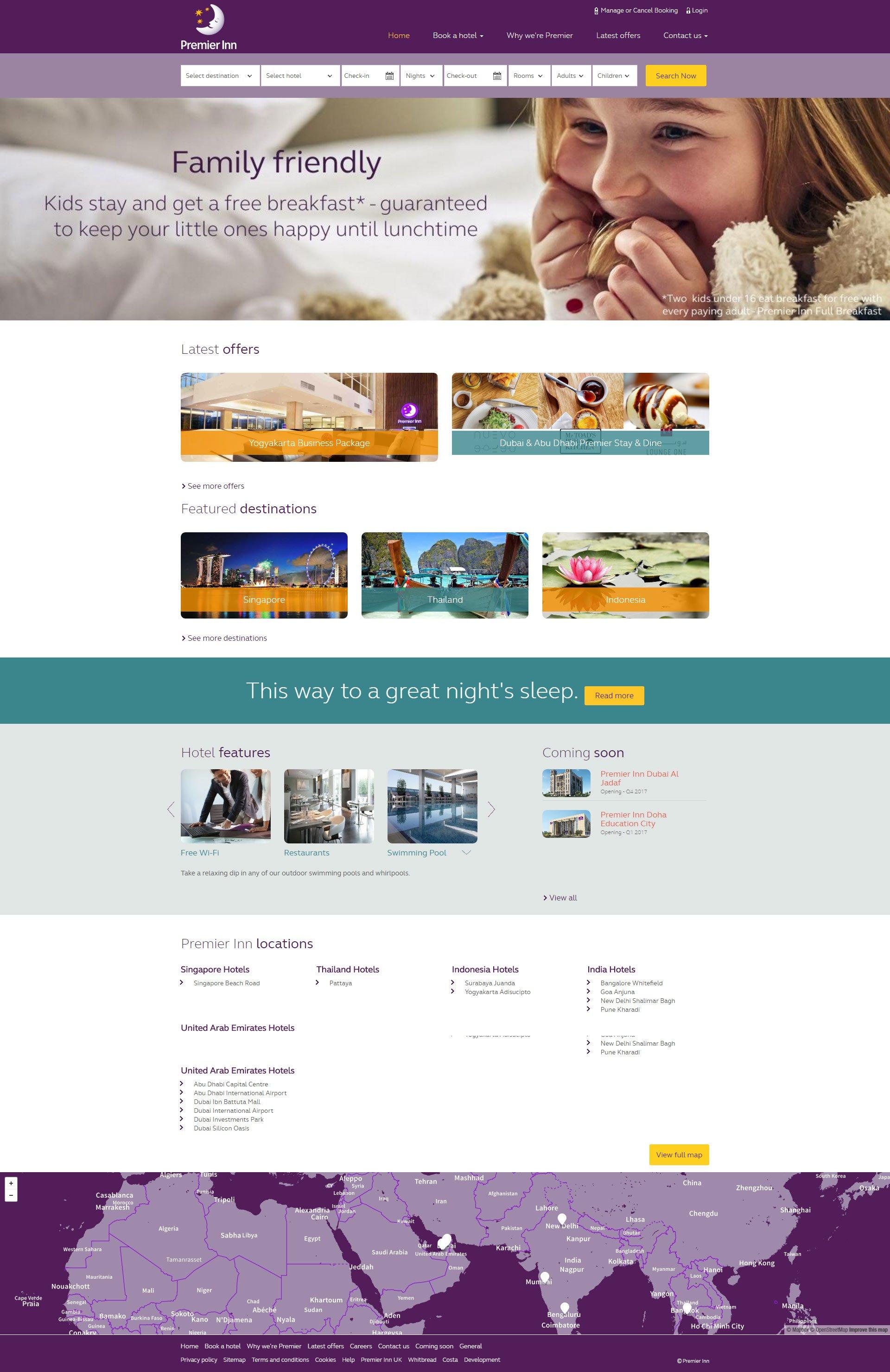 Premier Inn Website by Nexa