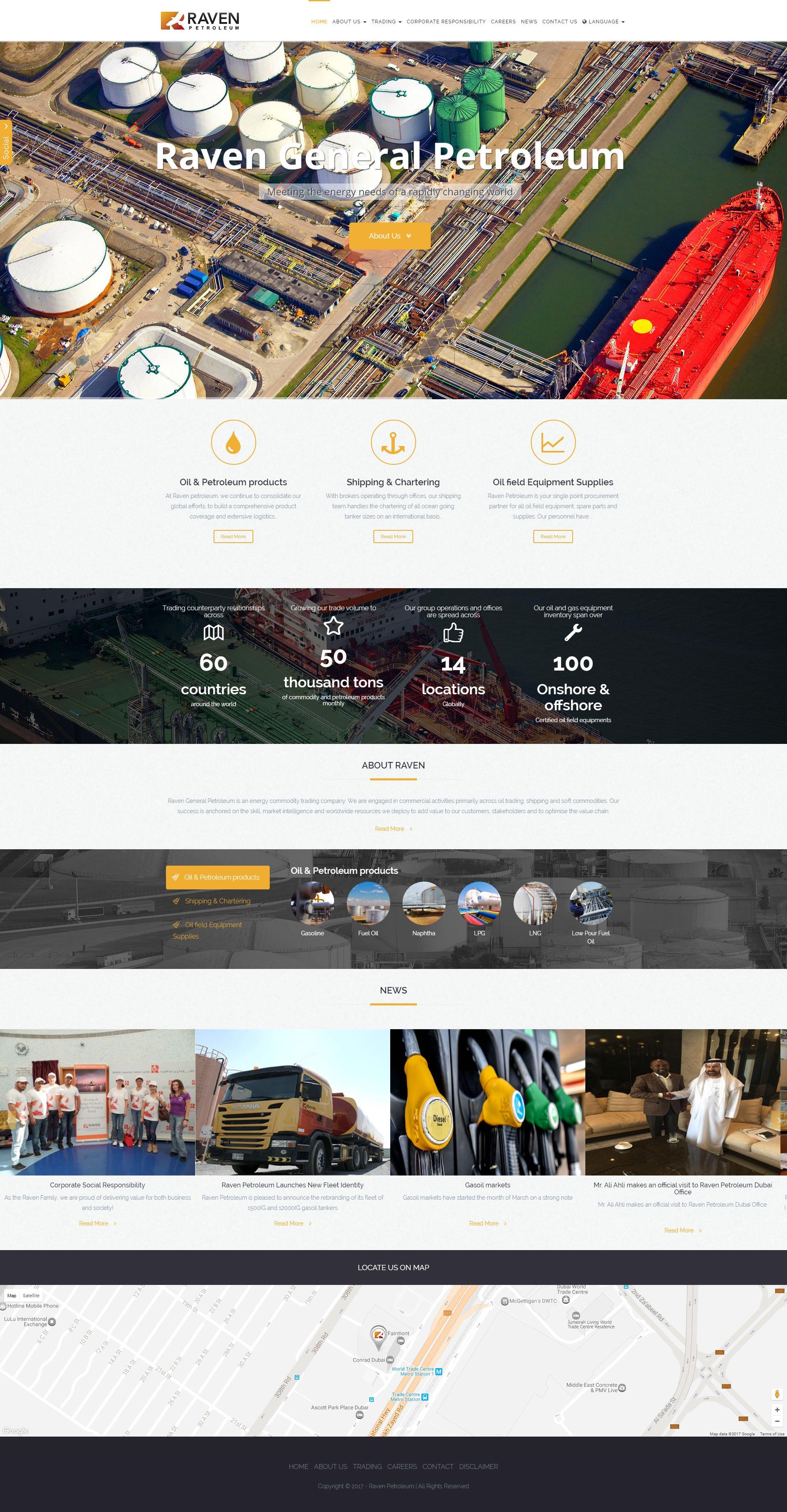 Raven Petroleum Website by Nexa, Dubai