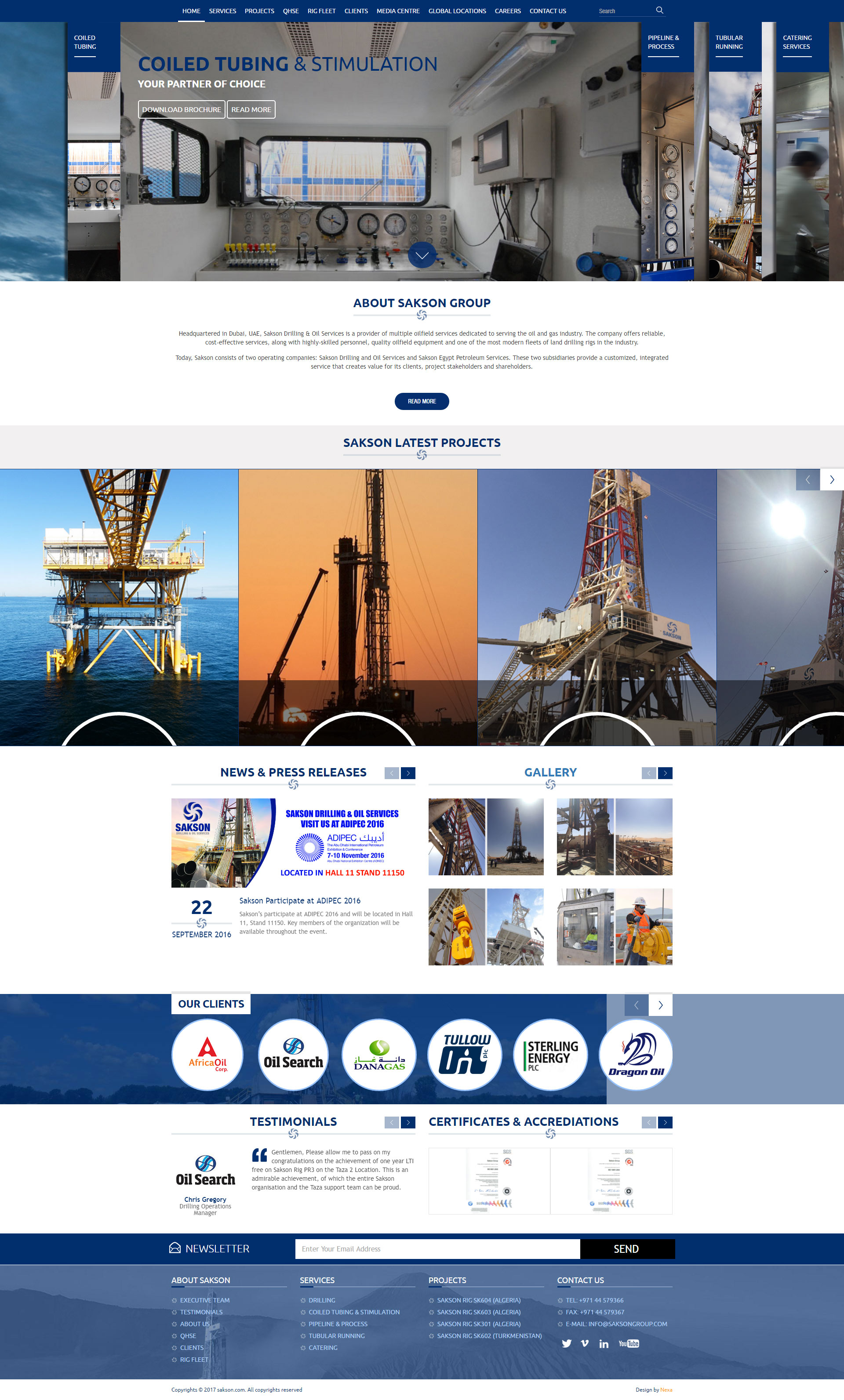 Sakson Website by Nexa, Dubai