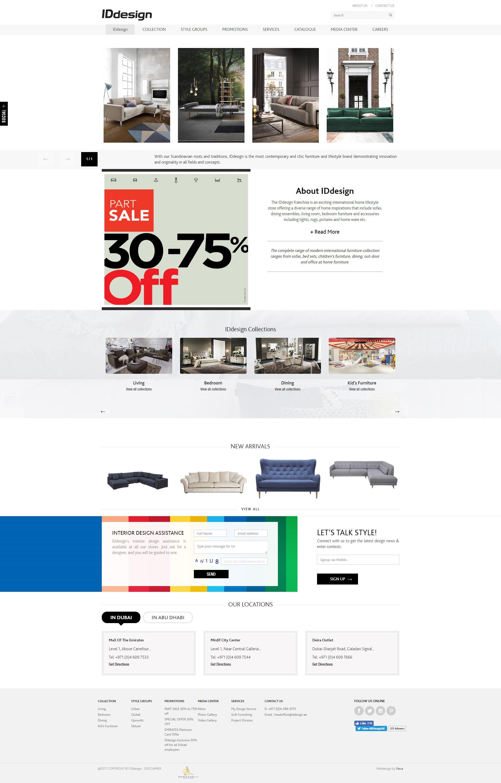 IDDesign Website by Nexa, Dubai