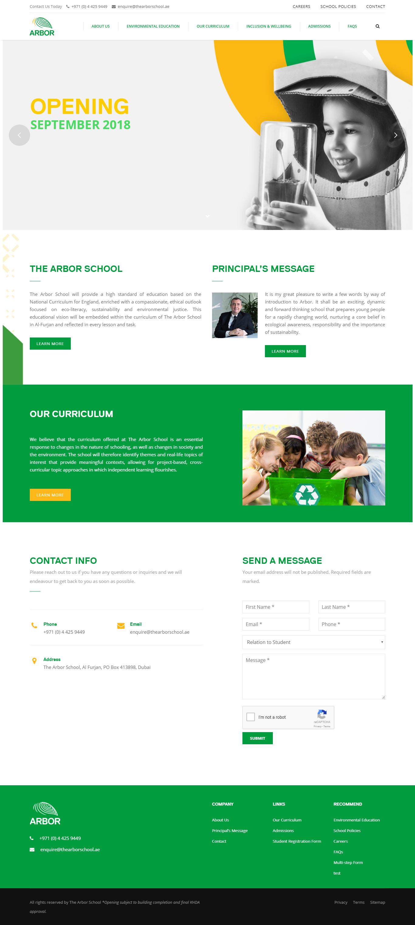 The Arbor School Website by Nexa, Dubai